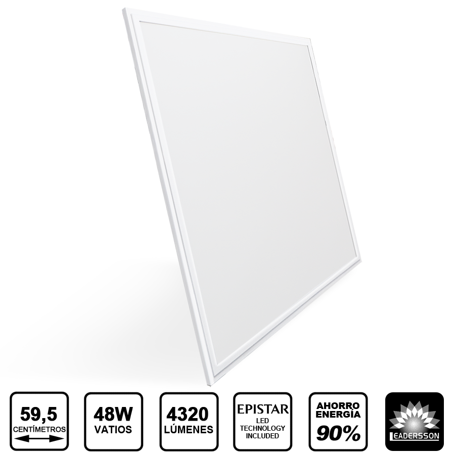 Painel LED 600x600 48W Branco SATURN