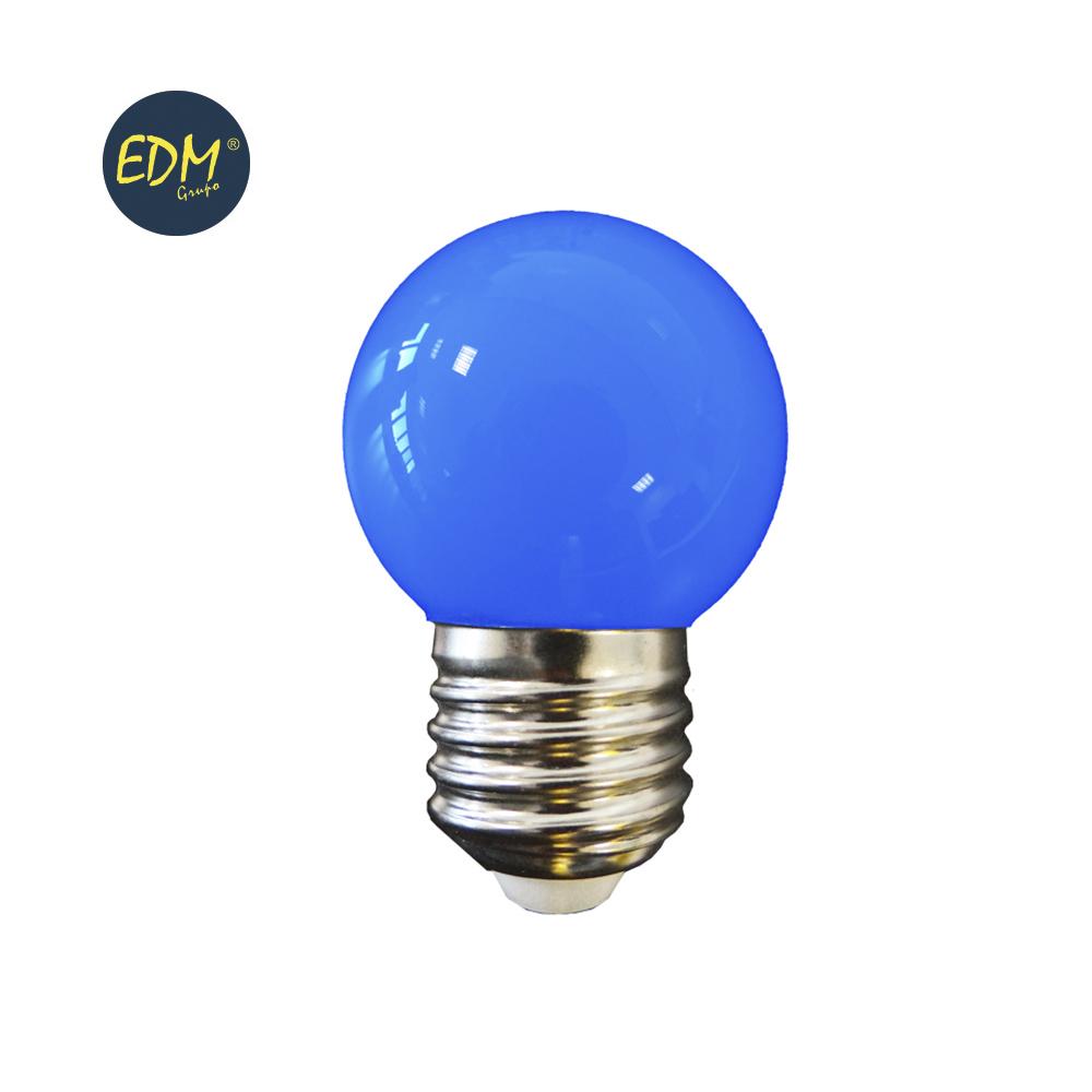 LAMPADA LED E27 G45 1,5W AZUL