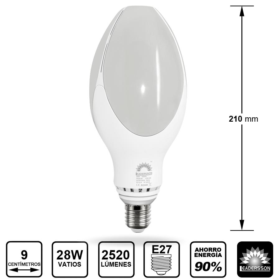 Lâmpada LED 28W E27 lâmpada ED90 Valencia