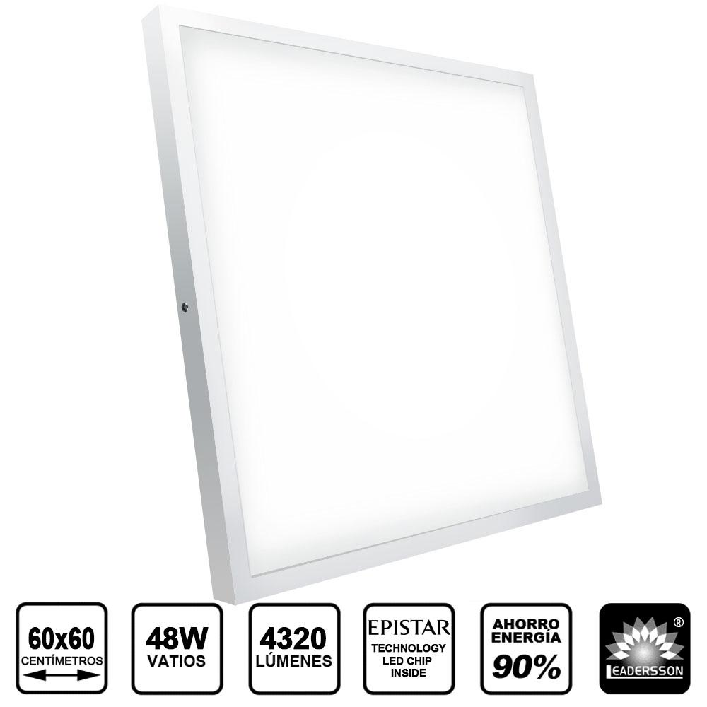 Painel LED Saliente Quadrado 48W Branco