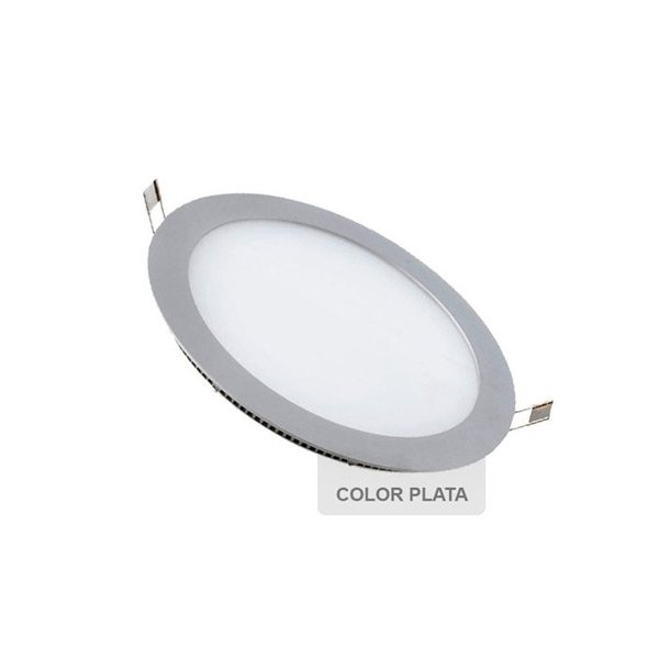 Painel LED Redondo 6W Prateado