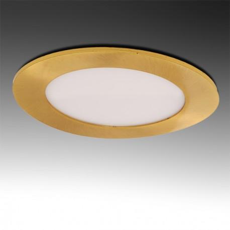 Painel LED  Redondo 12W Dourado