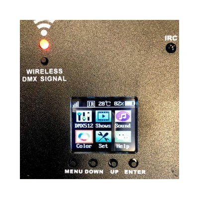 Spot de LED SHOW 90W RGB WiFi, DMX Battery
