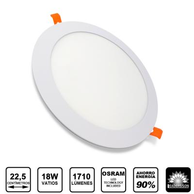 Painel LED Redondo 18W Branco PLUTON