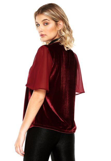 Blusa de veludo feminina Colcci