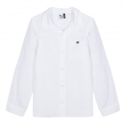 Camisa infantil menino branca 3pommes