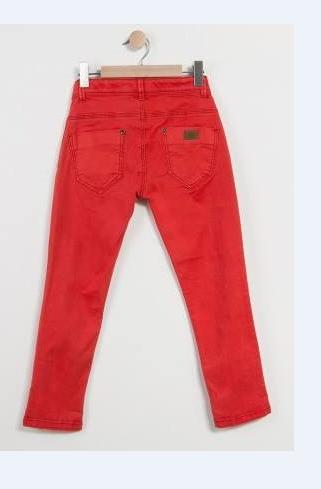 Calça infantil skinny vermelha Catimini