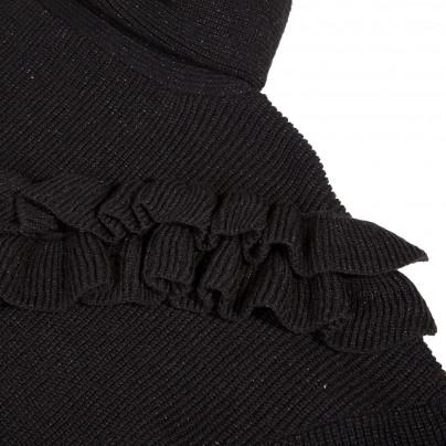 Camisola de gola alta preta adolescente Beckaro