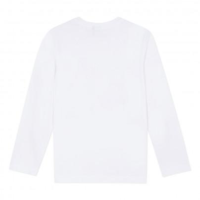 Camisola branca infantil de algodão 3pommes
