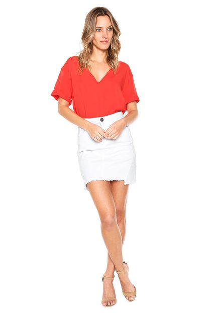 1c37ea23b Blusa feminina lisa vermelha Colcci | LEOTOM