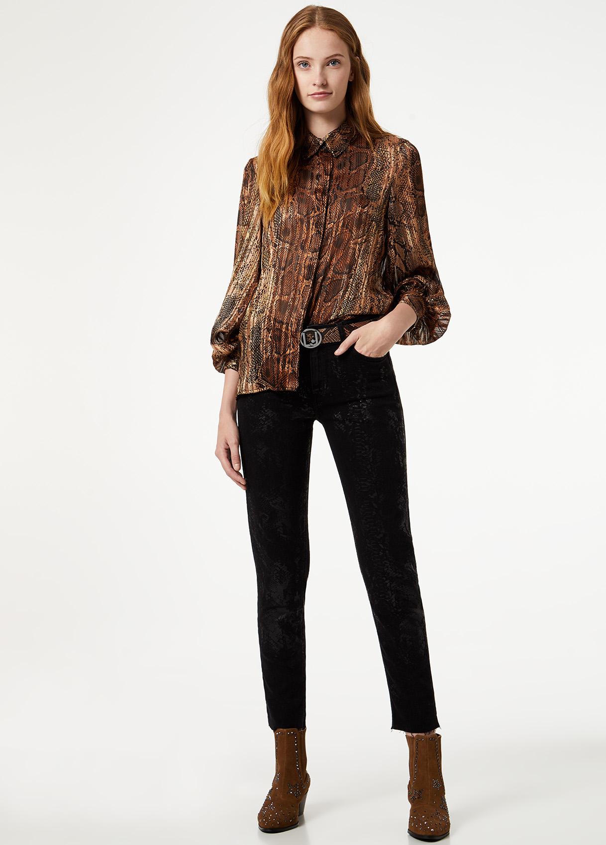 Blusa feminina padrão Liu Jo