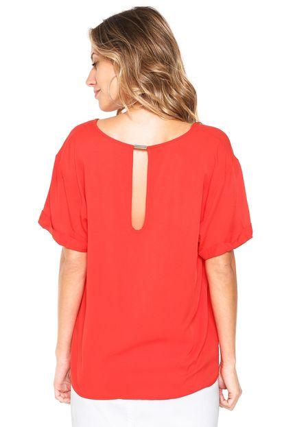da9019c1d Blusa feminina lisa vermelha Colcci; Blusa feminina lisa vermelha Colcci ...