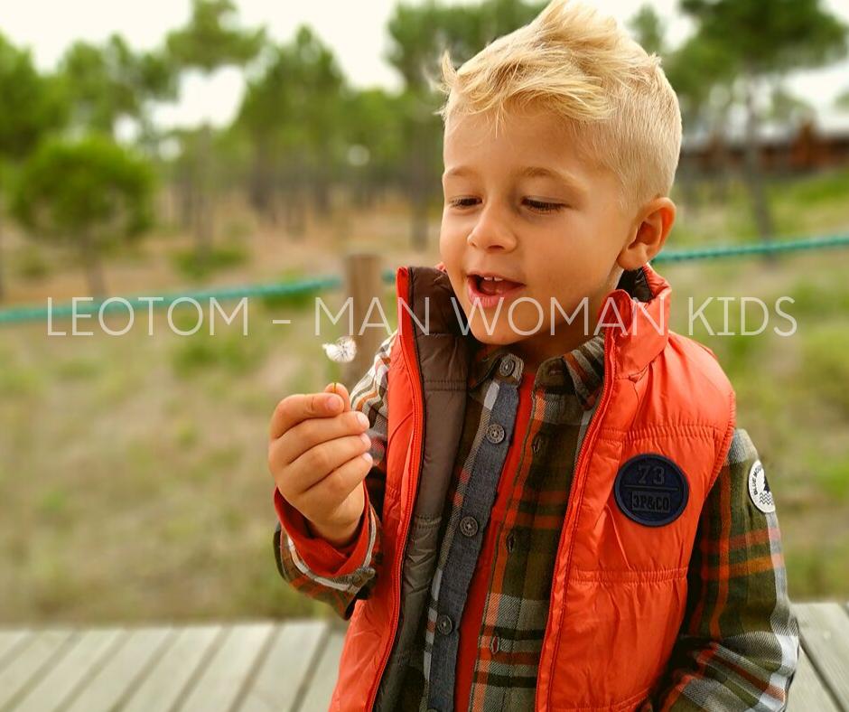 Colete infantil de menino reversível 3pommes