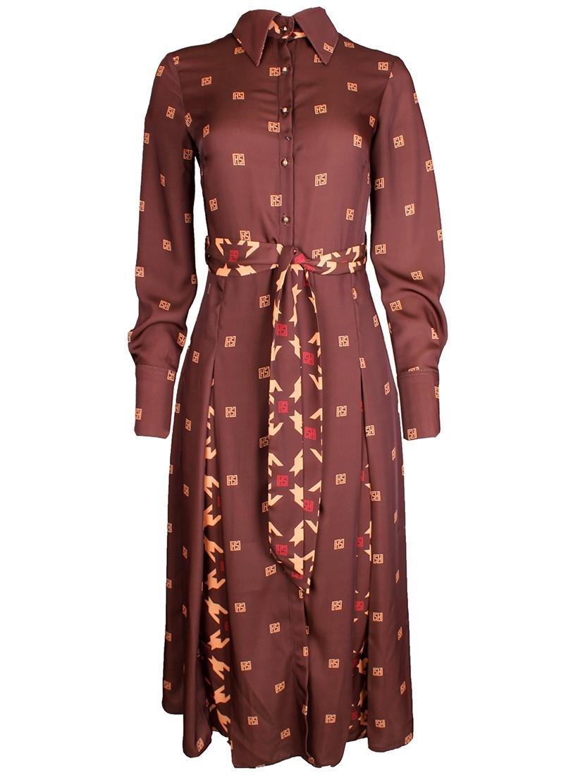 Vestido feminino midi com pregas Sahoco
