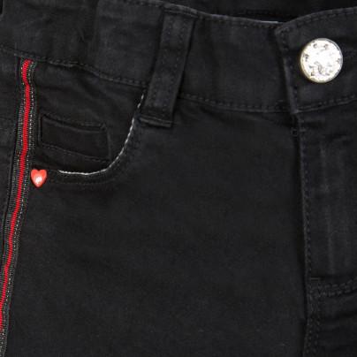 Calça infantil menina preta com listra lateral 3Pommes