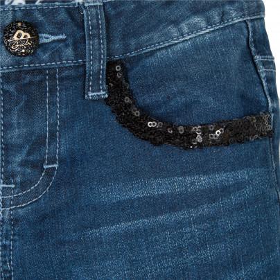 Jeans de lavagem escura rapariga Beckaro