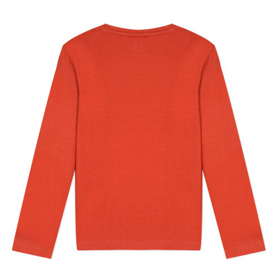 Camisola de algodão infantil cor de tijolo 3pommes