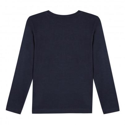 Camisola azul marinho de algodão infantil 3pommes