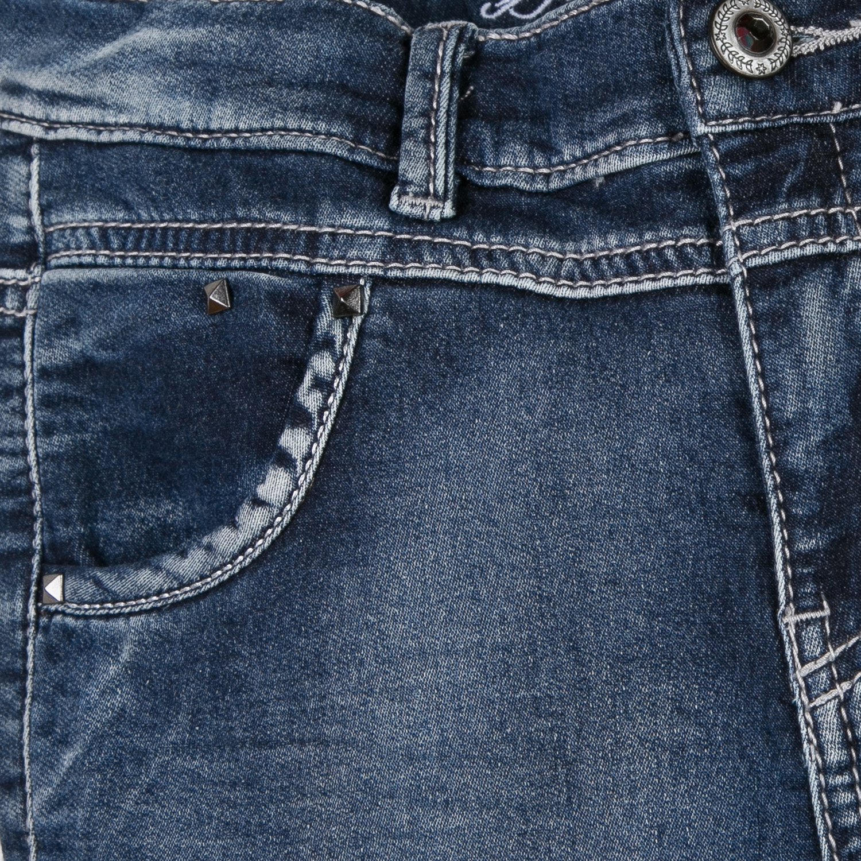Calça de ganga adolescente cintura subida Beckaro