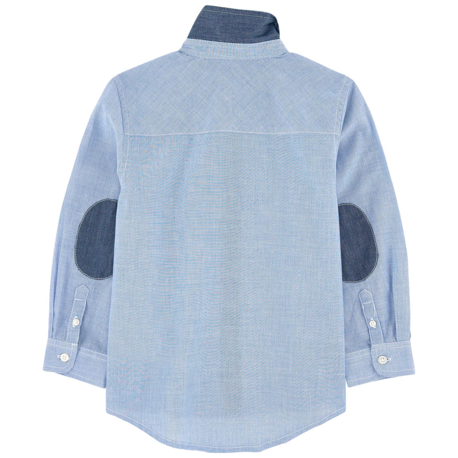 Camisa infantil azul clássica 3pommes