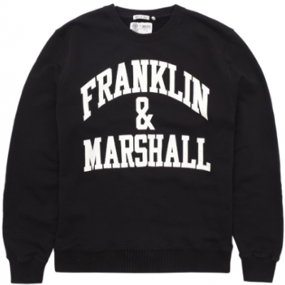 Sweat preta masculina Franklin & Marshall