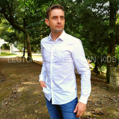 Camisa branca masculina CR7