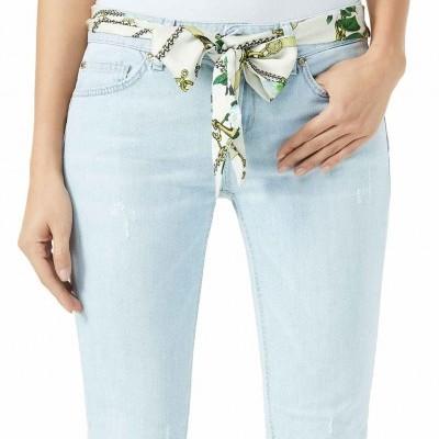 Calças claras femininas com lenço Liu Jo