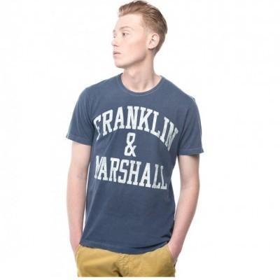 T-shirt azul Franklin & Marshall
