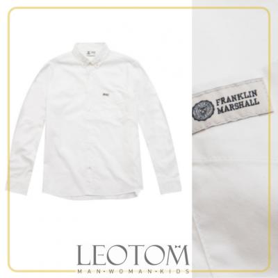 Camisa masculina branca Franklin & Marshall