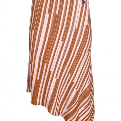 Saia de tricot feminina assimétrica Sahoco