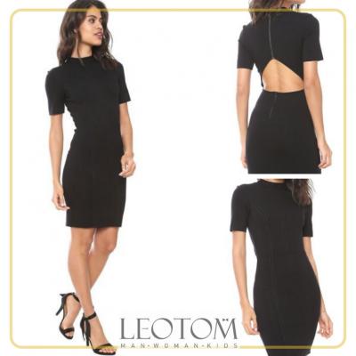 Vestido feminino preto com abertura nas costas Colcci