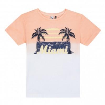 T-shirt laranja/branca 3pommes