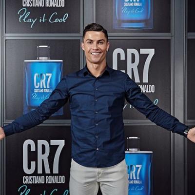 Camisa azul marinho masculina CR7