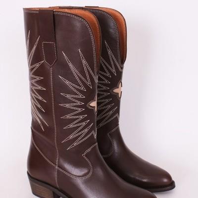 Botas de tacão cowboy femininas Sahoco