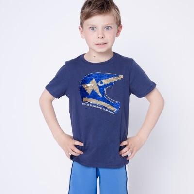 T-shirt azul marinho capacete 3pommes