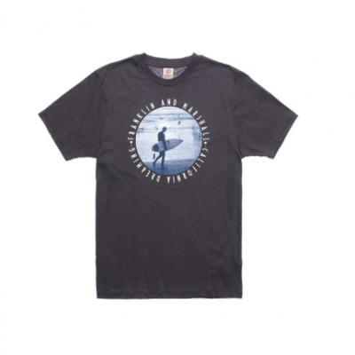 T-shirt preta estampado surfista Franklin & Marshall