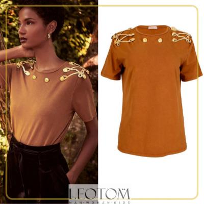 T-shirt mostarda feminina Sahoco