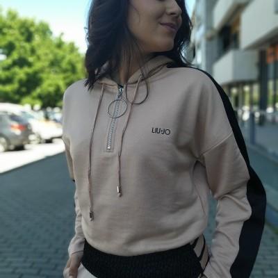 Sweat feminina rosa desportiva Liu Jo Sport