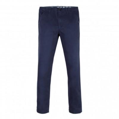 Calça chino azul Beckaro