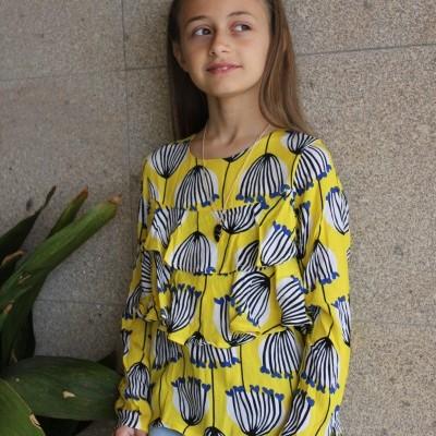 Blusa infantil feminina estampada Catimini