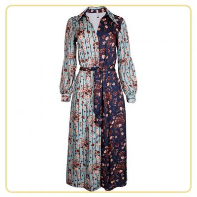 Vestido midi feminino floreado Sahoco