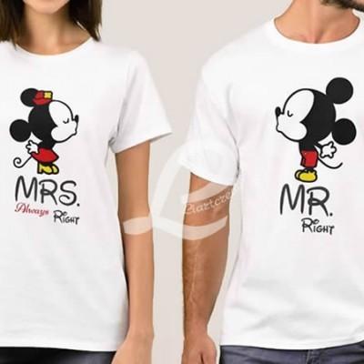 T-shirt  Namorados MR Right / MRS Always Right