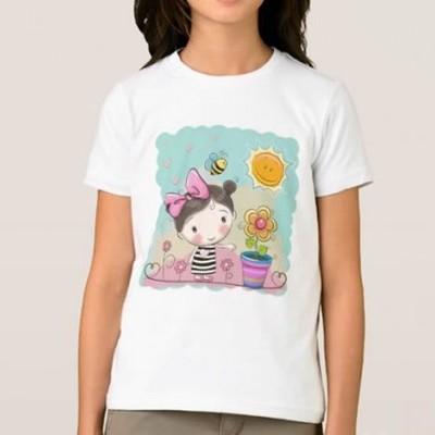 T-shirt Menina c/ Flor