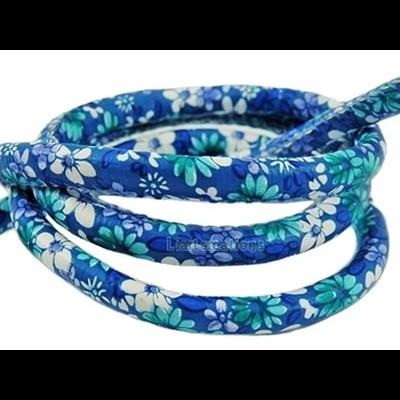Fio Napa Flores Azul  6mm
