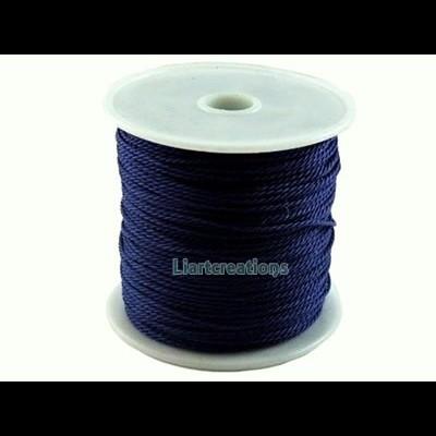 Fio de Algodão Encerado Torcido Azul Escuro 1mm