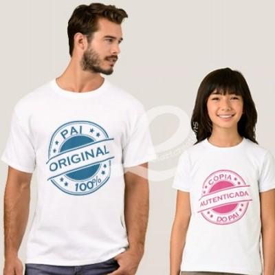 Conjunto Tshirts para Pai e Filho(a)