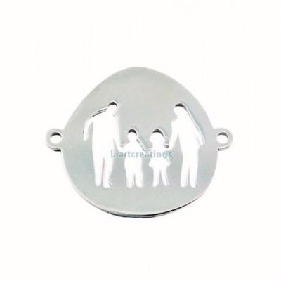 Conector Família Aço Inox 32x27mm