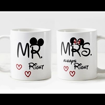 Conjunto Canecas Mr. e Mrs Right