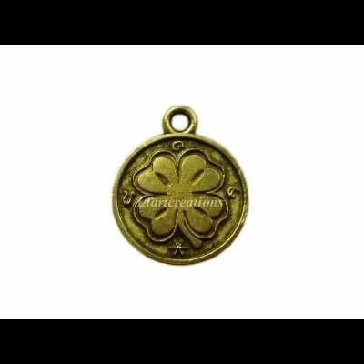 Medalha Metal c/ Trevo 15x18mm