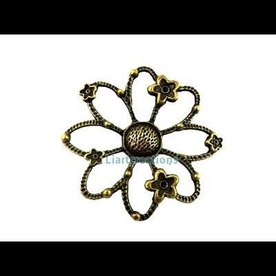 Pendente Flor Bronze 46mm